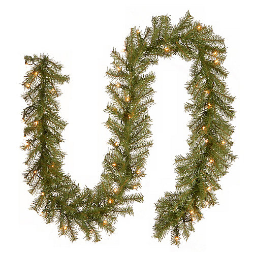 9 ft. Norwood Fir Garland with Clear Lights