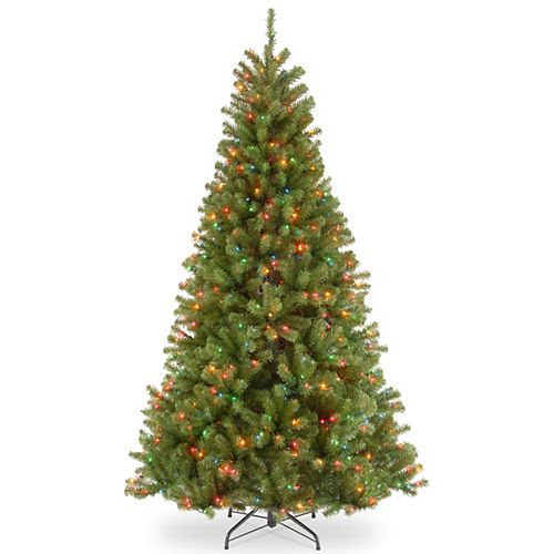 7 ft. North Valley Spruce Tree with Multicolor Lights