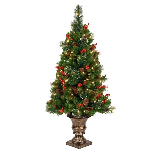 4 ft. CrestwoodSpruce Entrance Tree with Clear Lights
