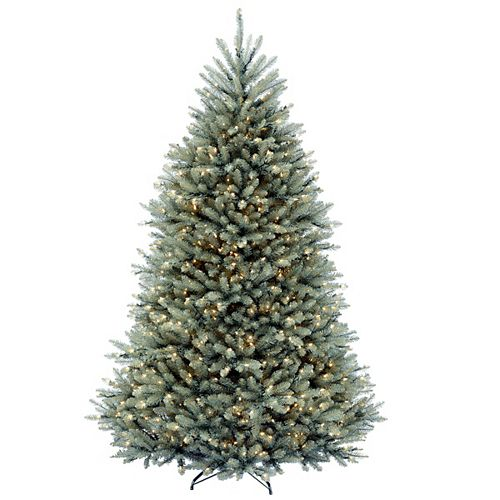 7.5 ft. Dunhill Blue Fir Tree with Clear Lights
