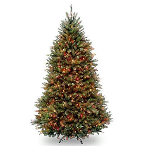 6.5 ft. Dunhill Fir Tree with Multicolor Lights