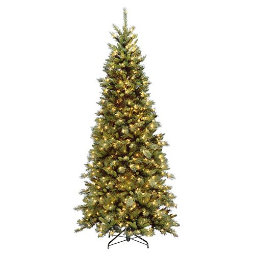 7.5 ft. Tiffany Fir Slim Tree with Clear Lights