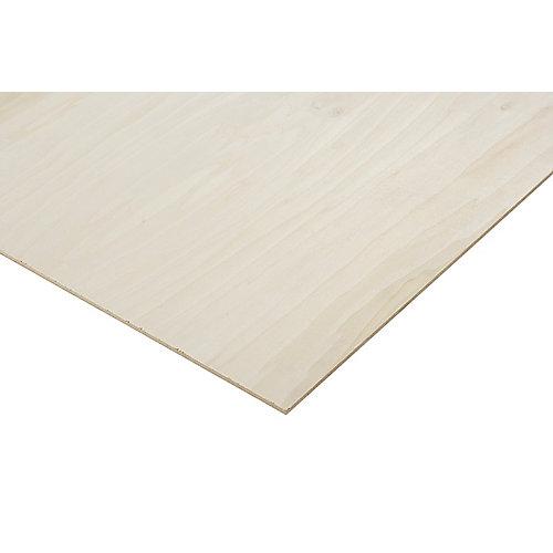 1/4in. X 2ft. X 4ft. Poplar Plywood
