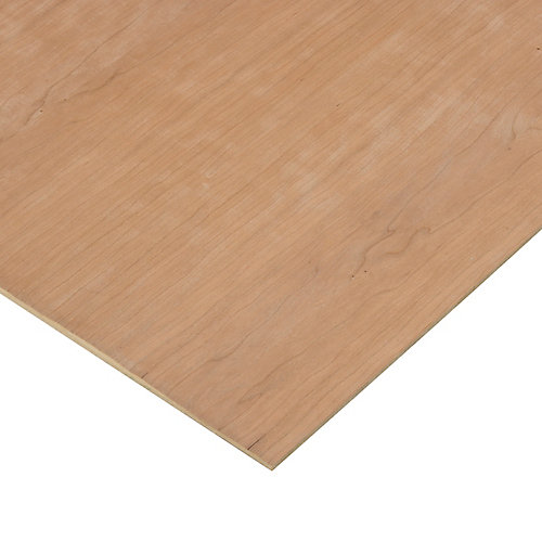 1/4in. X 2ft. X 4ft. Cherry Plywood