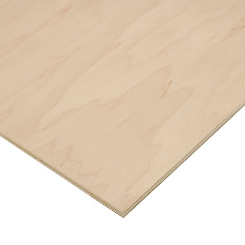 1/2in. X 2ft. X 4ft. Maple Plywood