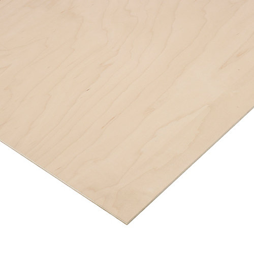 1/4in. X 2ft. X 4ft. Maple Plywood