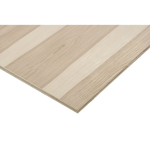 3/4in. X 2ft. X 4ft. Hickory Plywood