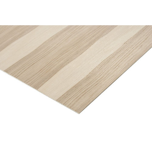 1/4in. X 2ft. X 4ft. Hickory Plywood
