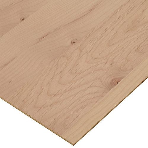 1/4in. X 2ft. X 4ft. Alder Plywood