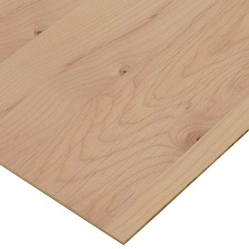 Columbia Forest Products 1/4in. X 2ft. X 4ft. Alder Plywood