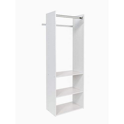 25.125-inch Wide Starter Tower in White