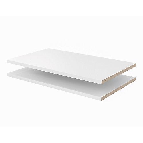 24 in. Shelves in White (2-Pack)