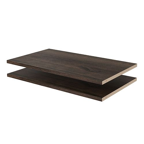 Closet Evolution 24 in. Shelves in Espresso (2-Pack)