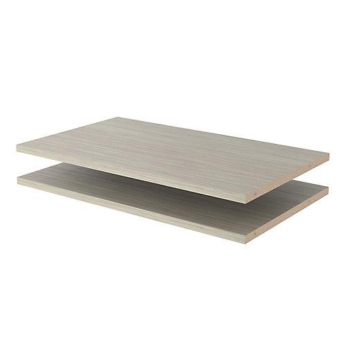 24 in. Shelves in Rustic Grey (2-Pack)