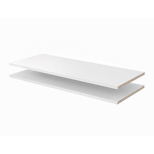 35 in. Shelves in White (2-Pack)