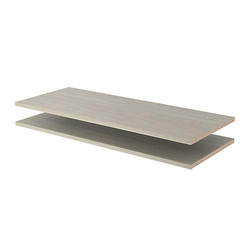 35 in. Shelves in Rustic Grey (2-Pack)