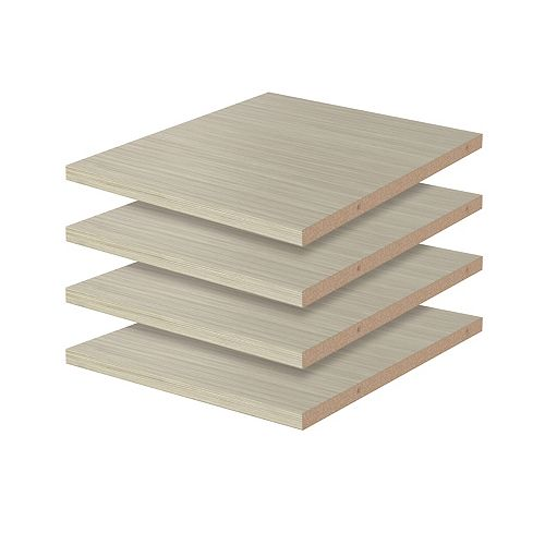 Closet Evolution 12-inch Shelves in Rustic Grey (4-Pack)