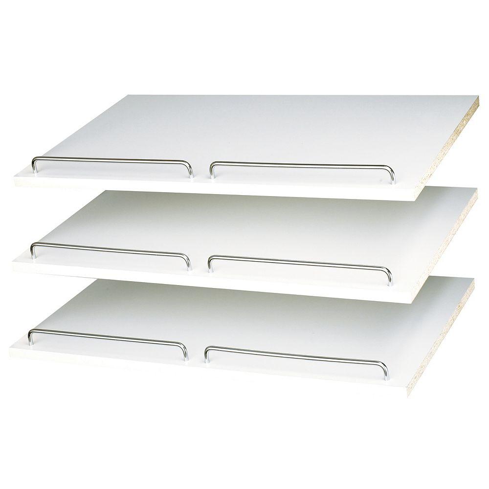 Closet Evolution 24 in. Shoe Shelves in White (2-Pack)