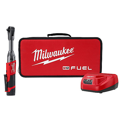M12 FUEL 12V Li-Ion Brushless Cordless 3/8 in. Extended Reach Ratchet Kit with One 2.0 Ah Battery