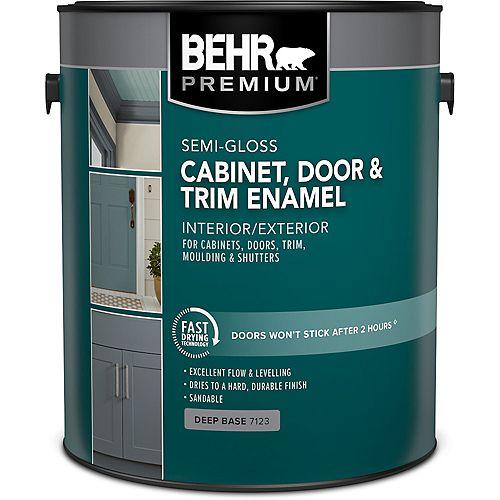 PREMIUM Cabinet & Trim Interior Semi-Gloss Enamel Paint in Deep Base, 3.79 L