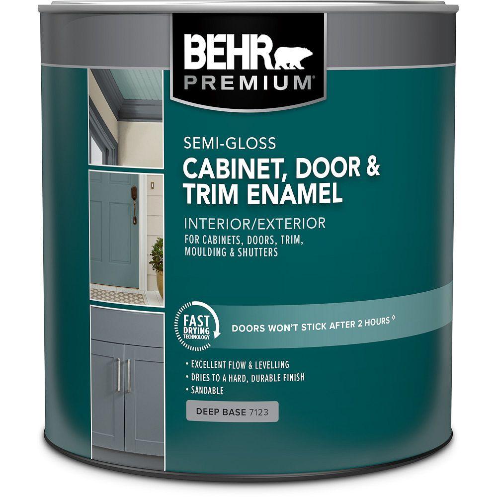 Behr Premium Plus Ultra Cabinet & Trim Interior Semi-Gloss Enamel Paint - Deep Base, 3.79 L