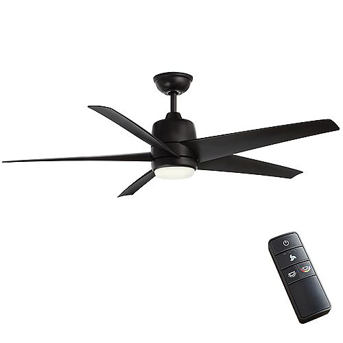 Mara 54-inch Color Changing LED Indoor/Outdoor Ceiling Fan with Light and Remote in Matte Black