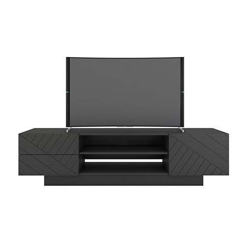 Galleri 72 inch TV Stand, Charcoal Grey