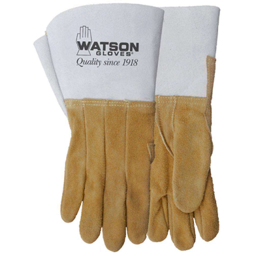 Watson Gloves Gants de soudage résistants en cuir fendu d'élan, fabriqués au Canada - Buckweld - TG