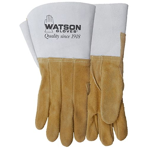 Gants de soudage résistants en cuir fendu d'élan, fabriqués au Canada - Buckweld - TG