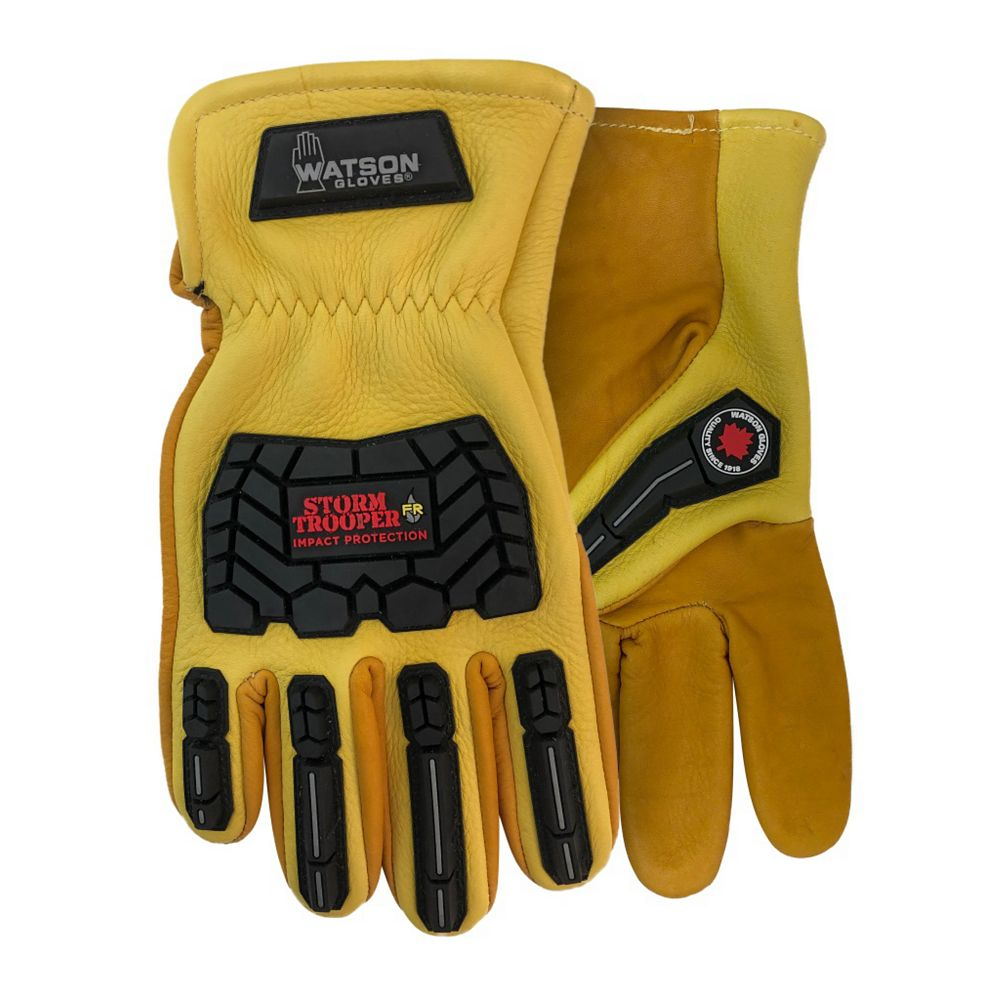 Watson Gloves Heavy Duty Flame, Impact, Oil & Water Resistant Work Gloves Canadian Made - Storm Trooper - L