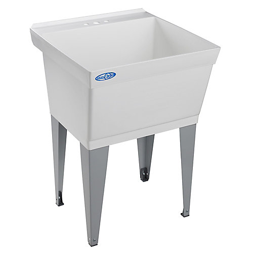 Utility and Laundry Tub, Floor Mounted, By Mustee