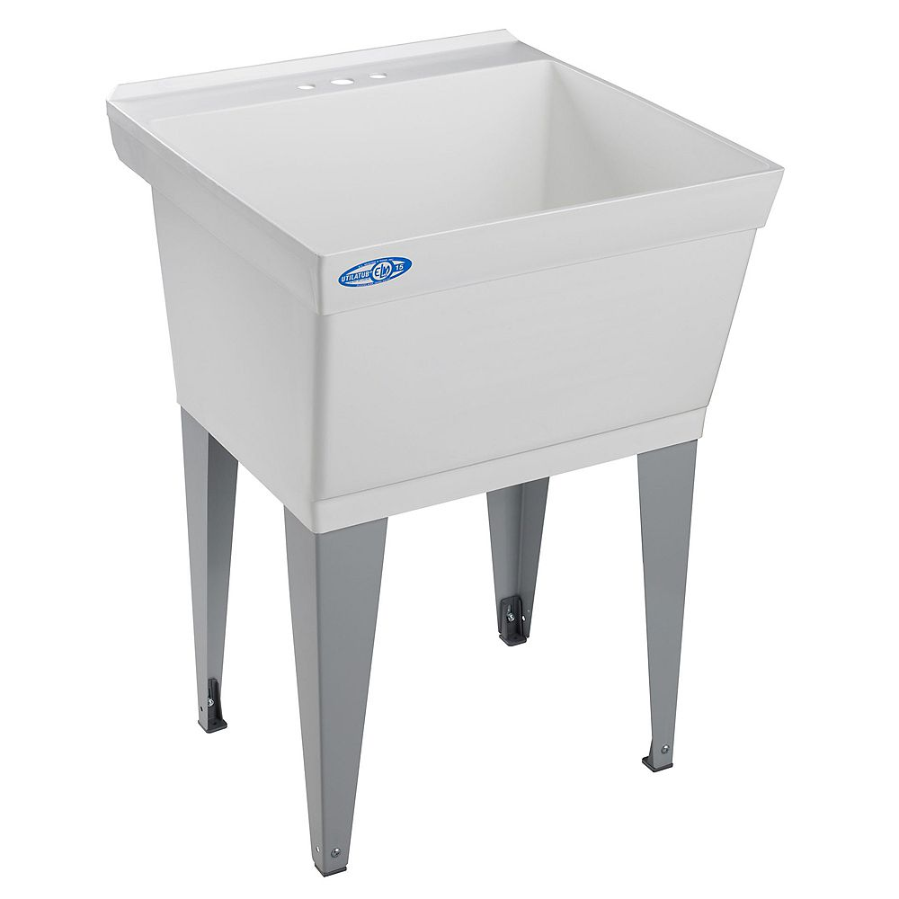 Jag Plumbing Products Utility and Laundry Tub, Floor Mounted, By Mustee