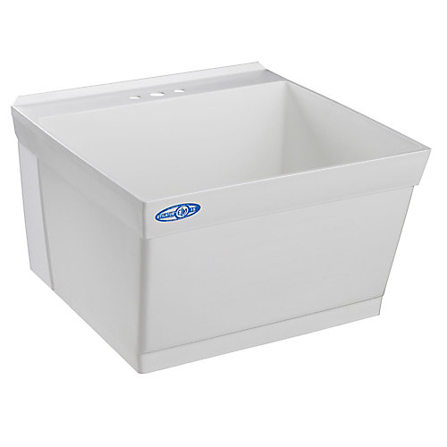 Utility and Laundry Tub, Wall Mounted, By Mustee