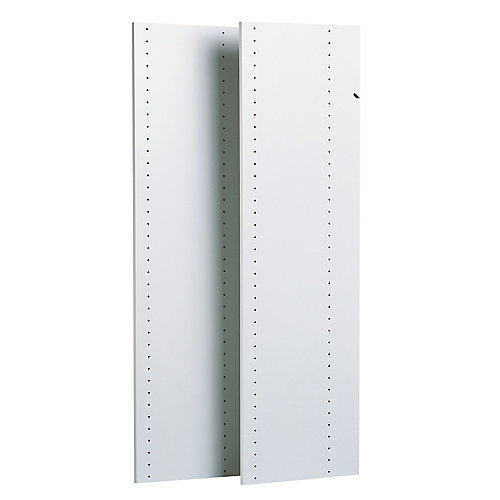 48 in. Vertical Panels in White (2-Pack)