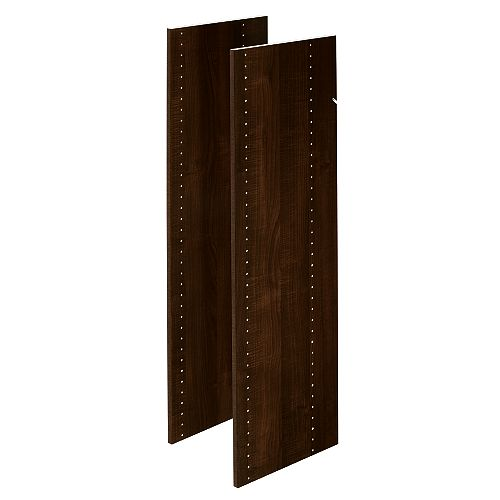 Closet Evolution 48 in. Vertical Panels in Espresso (2-Pack)