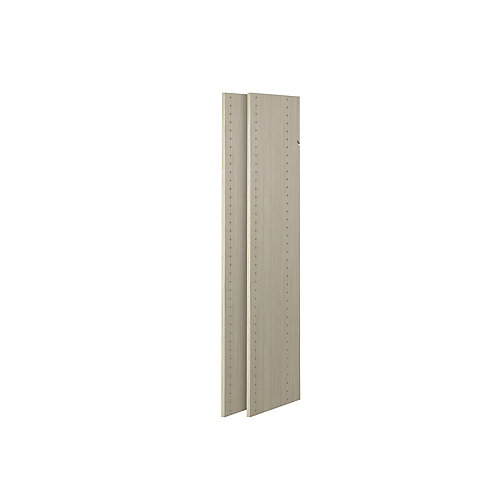 48 in. Vertical Panels in Rustic Grey (2-Pack)