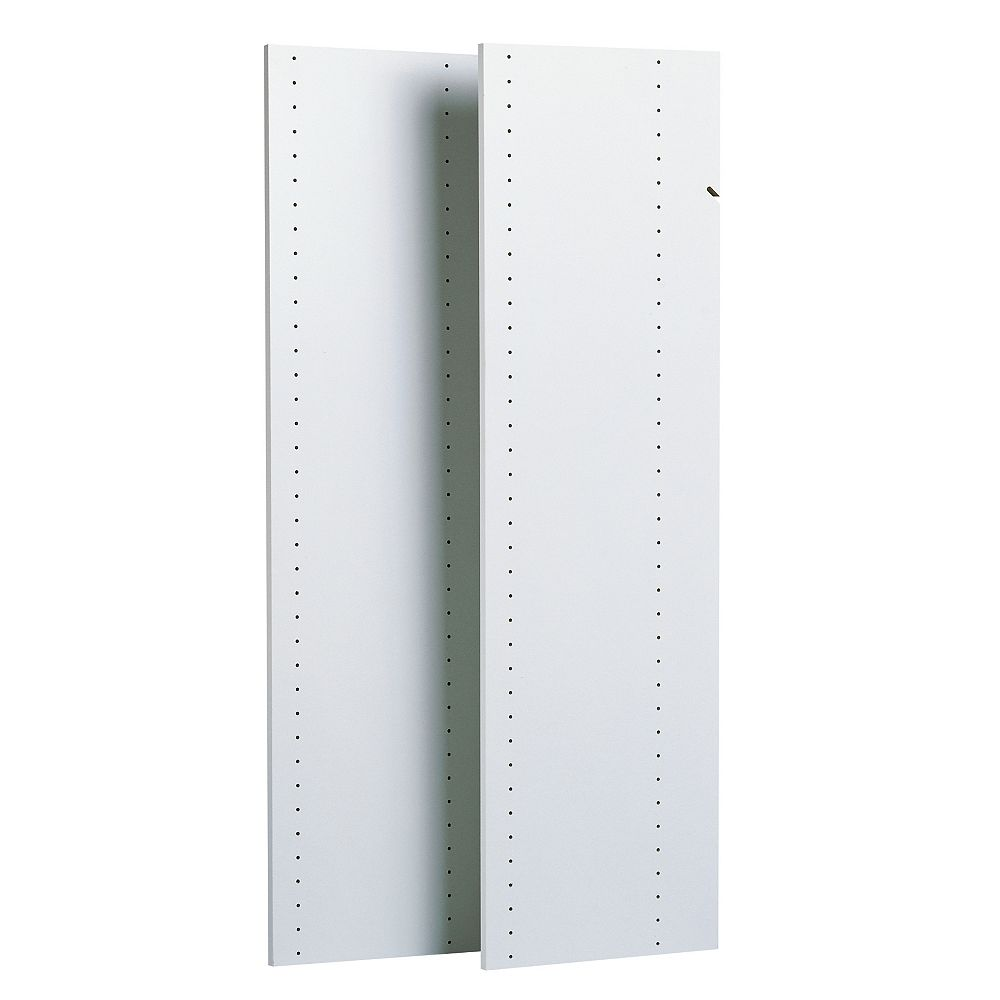 Closet Evolution 72 in. Vertical Panels in White (2-Pack)