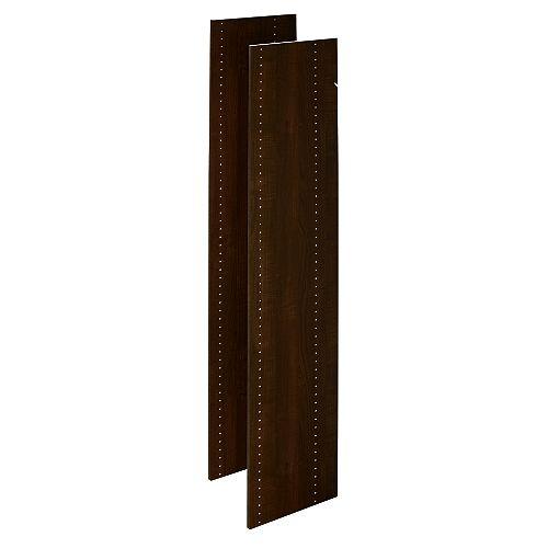 Closet Evolution 72 in. Vertical Panels in Espresso (2-Pack)