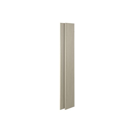 72-inch Vertical Panels in Rustic Grey (2-Pack)