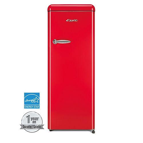 9 cu.ft. Red Retro All-Refrigerator