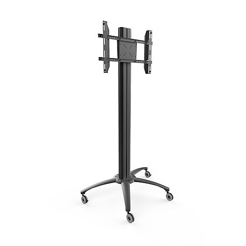 Rolling TV Floor Stand with Built-in Power Bar for 37-inch to 70-inch TVs