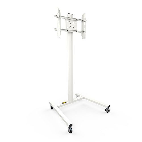 Rolling TV Floor Stand for 37-inch to 65-inch TVs, White