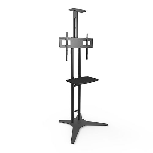 TV Floor Stand with Adjustable Tray for 32-inch to 55-inch TVs
