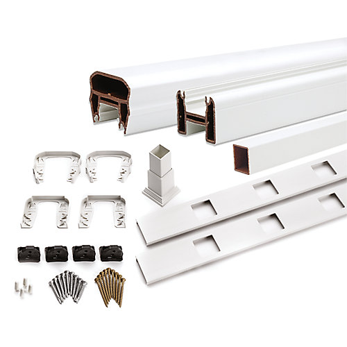 8 ft. - 36 inch. Transcend Stair Railing Kit with Composite Square Balusters - White