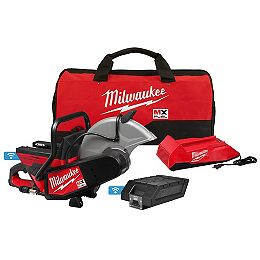 MX FUEL Lithium-Ion Cordless 14 -inch Cut Off Saw with Battery and Charger