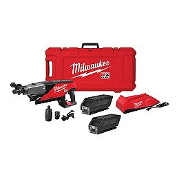 MX FUEL Lithium-Ion Cordless Handheld Core Drill Kit with 2 Batteries and Charger
