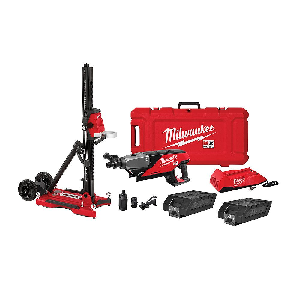 Milwaukee Tool MX FUEL Lithium-Ion Cordless Handheld Core Drill Kit with Stand, (2) Batteries and Charger