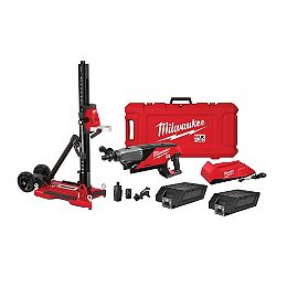MX FUEL Lithium-Ion Cordless Handheld Core Drill Kit with Stand, (2) Batteries and Charger