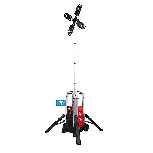 MX FUEL Lithium-Ion Cordless Rocket Tower Light with Battery and Charger