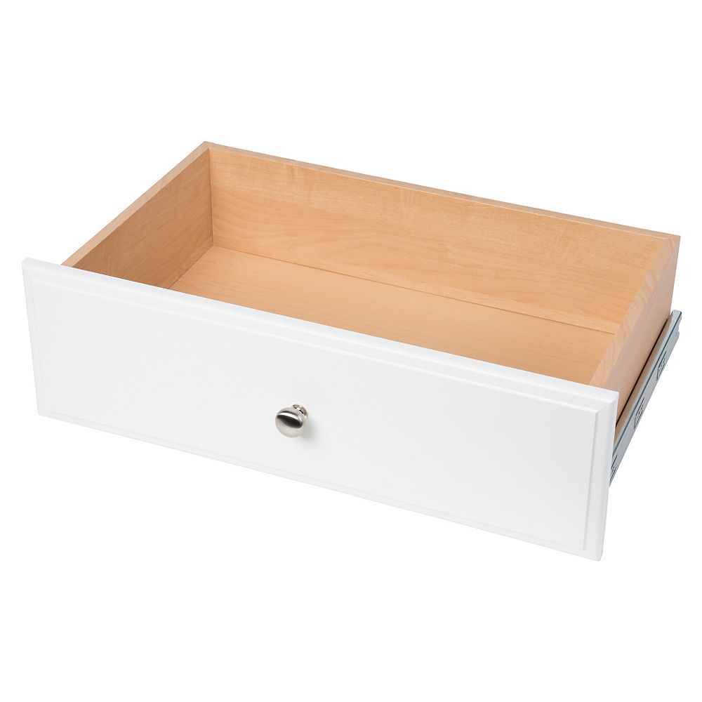 Closet Evolution 8 in. Deluxe Drawer in White